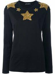 джемпер с вышивкой звезд из пайеток Dolce & Gabbana