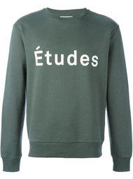 толстовка с принтом логотипа Études