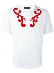 футболка с вышивкой  Christian Pellizzari