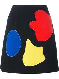 юбка А-образного кроя с нашивками Peter Jensen