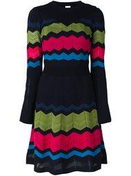 трикотажное платье с зигзагообразным узором M Missoni