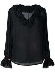 полупрозрачная блузка с рюшами Givenchy