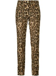 брюки прямого кроя с леопардовым принтом Alberta Ferretti