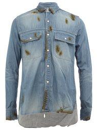 джинсовая рубашка с выгоревшим эффектом Maison Mihara Yasuhiro