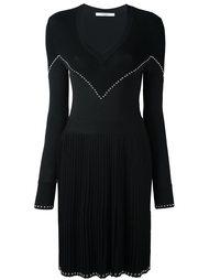 трикотажное платье с заклепками Givenchy