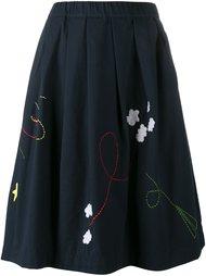 юбка с вышивкой Mira Mikati