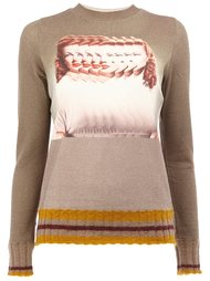 blurred woman intarsia jumper Undercover