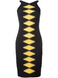 обтягивающее платье с геометрическим принтом Versace Collection