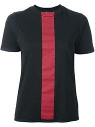 футболка с контрастной полосой Yang Li