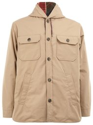 buttoned hooded coat Herno