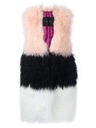 меховое пальто без рукавов Blancha
