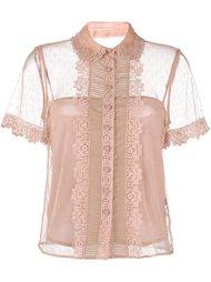 блузка с оборками  Red Valentino