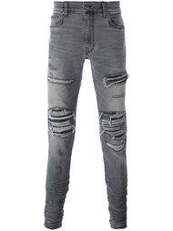 джинсы кроя слим с рваными деталями Amiri