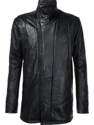 zip up leather jacket Julius