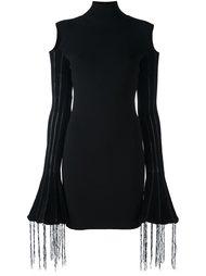 платье с бахромой и высокой горловиной Alyx