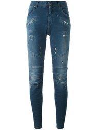 джинсы скинни в байкерском стиле Pierre Balmain