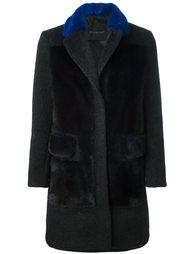 норковое пальто с контрастным воротником Blancha