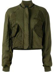 укороченная куртка бомбер с панельным дизайном Haider Ackermann