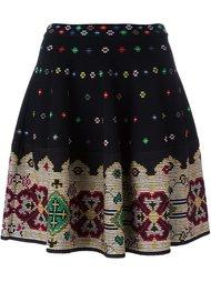 юбка с вышивкой крестиком Alexander McQueen