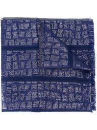 тканый шарф с жаккардовым узором Armani Collezioni