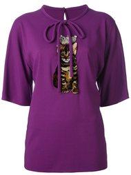 блузка с нашивкой кота Dolce & Gabbana