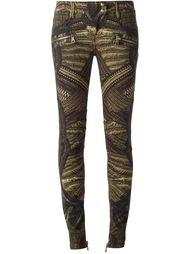 узкие джинсы с принтом Balmain