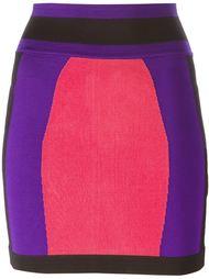 юбка в стиле колор-блок  Balmain