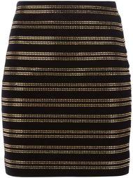 юбка с золотистыми заклепками Balmain