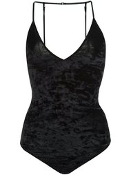 leather strap V-neck bodysuit Fleur Du Mal