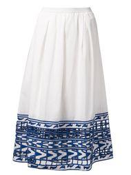 длинная юбка с вышивкой  Sea
