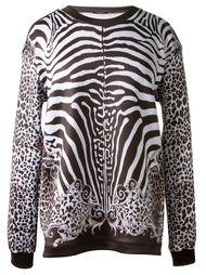 свитер с принтом зебры Balmain