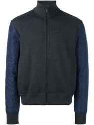 куртка-бомбер с фактурными рукавами Moncler Gamme Bleu
