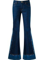 frayed overlay flared jeans Amapô