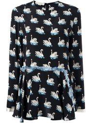 блузка с принтом лебедей Stella McCartney