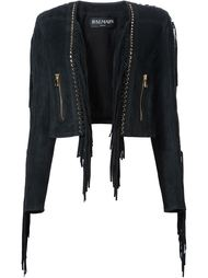 укороченная куртка с бахромой Balmain