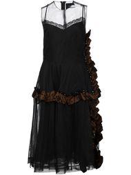 полупрозрачное платье с рюшами Simone Rocha