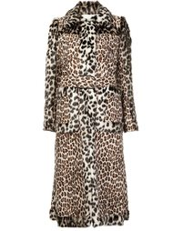 пальто из искусственного меха с панельным дизайном Stella McCartney