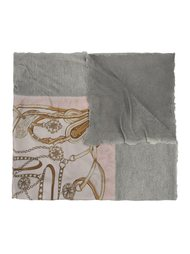 шарф-фуляр с рисунком Avant Toi