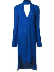 платье c V-образным вырезом   Kitx