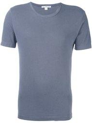 футболка с круглым вырезом James Perse