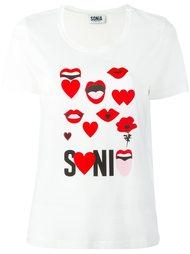 футболка с принтом Sonia By Sonia Rykiel