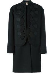 многослойное пальто с аппликацией Nº21