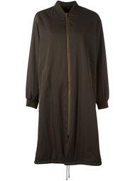 пальто с манжетами в рубчик Army Yves Salomon