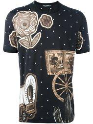 футболка с принтом в ковбойском стиле Dolce & Gabbana