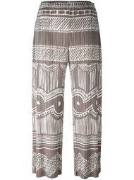 плиссированные брюки с рисунком Pleats Please By Issey Miyake