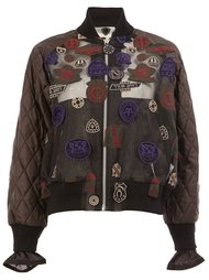 patch embroidered bomber Sacai
