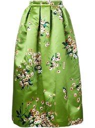 юбка с цветочным узором Rochas