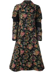 двубортное пальто с цветочным рисунком Comme Des Garçons