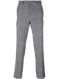 брюки в ломаную клетку Salvatore Ferragamo