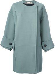 объемное пальто с панельным дизайном Marni